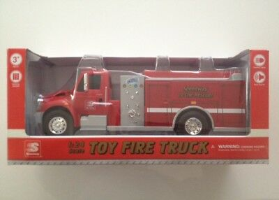 2017 Speedway Truck Toy Fire and Rescue  1:24 First Gear w Lights & Sound