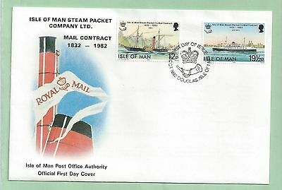 Isle of Man First Day Cover FDC 1982 Steam Packet Company Mail Contract Ships