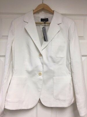 NWT Talbot's White Classic Grace Fit Blazer Jacket size 14 $159 FINAL REDUCTION