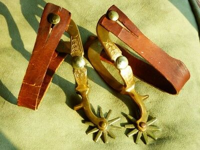 Vintage North & Judd Hercules SPURS (pair) WESTERN COWGIRL Anchor Star