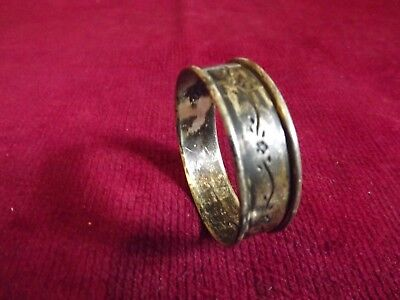 Lullaby Sterling Silver Napkin Ring Round 1933 flowers