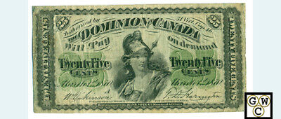 1870 25ct Letter A. Bank Note F/VF (OOAK)