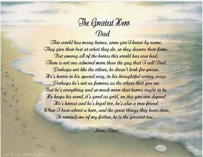 Personalized Father Dad Poem Gift For Christmas, Birthday
