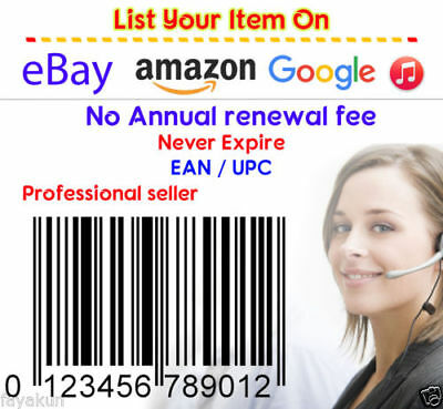 1000 UPC Numbers Barcodes Bar Code GS1-issue EAN Amazon Lifetime Guarantee