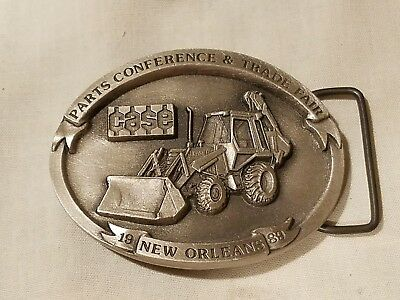 J.I. Case construction belt buckle backhoe 1989