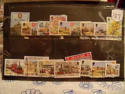 isle of man  stamps  lot   187