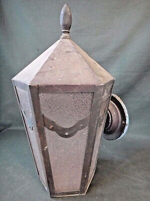 """Vintage Copper Porch Light - Old Single Sconce - 14"""" Tall"""