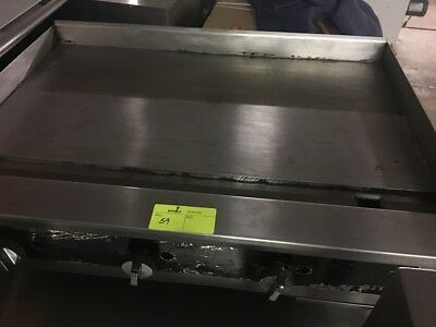 """36"""" FLAT GRIDDLE GRILL Used COMMERCIAL RESTAURANT HEAVY DUTY NAT GAS"""