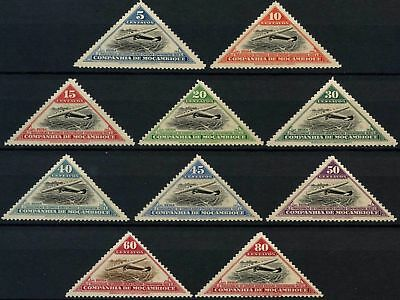 Mozambique Company 1935 SG#261-270 Air, Triangles MH Set #D59064