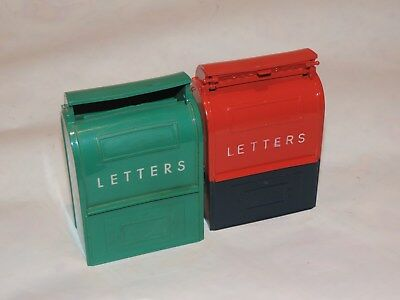Vintage U.S. Mail Mailbox Coin Bank Toy Lot Letters Chardon Savings OHIO (h326)
