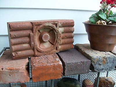 Paver Brick Old Vtg Architectural Block Stone Large Fancy Terracotta Heavy Soli