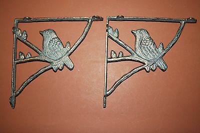(10),Wild Bird Wall Decor, Bird Shelf Brackets, Audubon Gift, set of 10,B-44