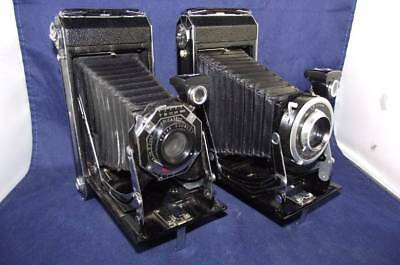 Two Art Deco Kodak Six-16 Folding Cameras - Beautiful Cameras
