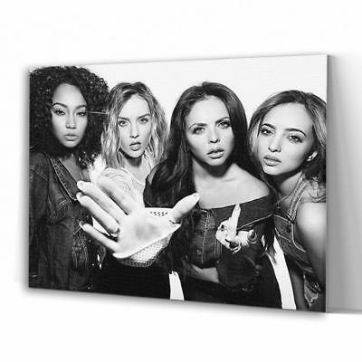 Little Mix Pop Group Band Black & White Large Canvas A1 A2 A3 Sizes