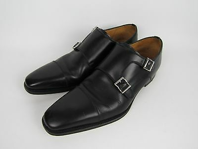Magnanni Men's Black Double Monk Strap Shoes Size 8.5 - Worn Few times
