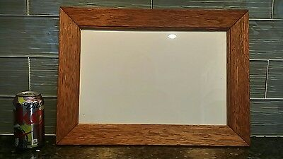 "Antique Vintage OAK frame 18"" x 12.75"" holds 14.5"" x 9.5"" photo or art"