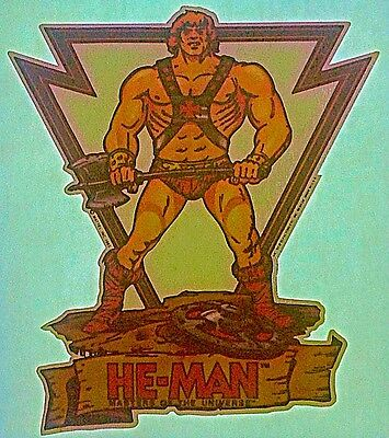 """Vintage 1981 """"He-Man Masters of the Universe"""" Iron-On Transfer RARE!"""
