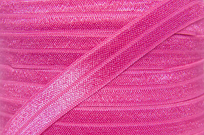 1m FOE hot pink, fold over elastic FREE POST