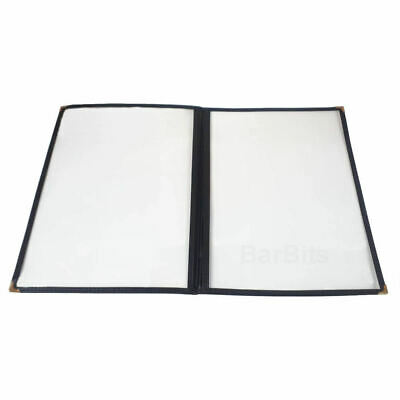 BarBits American Style A4 Menu Holder - 2 Page 4 Sides Facing Heavy Duty Display