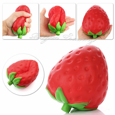 11.5CM Jumbo Colossal Squishy Strawberry Fruit Scented Slow Rising Toys Kid Gift