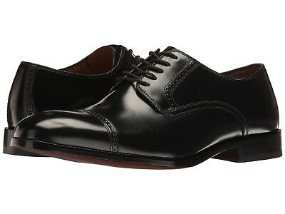 Johnston & Murphy Bradford Black Leather Cap Toe Oxford Dress Shoe 13 EEE NEW