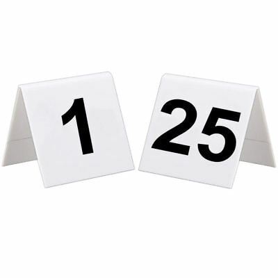 1 To 25 Plastic Table Numbers Set - Flexible Wedding Restaurant Bars Cafe Signs