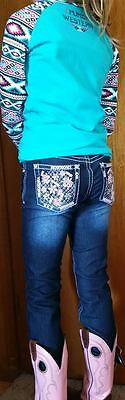 New Girls Thomas Cook Pure Western Betsy Bling Pocket Slim Leg Jeans