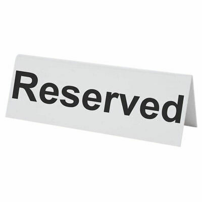 Flexible Plastic Reserved Table Sign - BarBits Tabletop Restaurant Cafe Bar