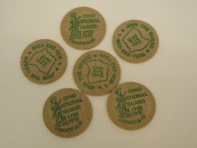 1976 Ohio National Guard Army / Air Wooden Nickels