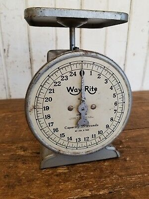 Old Vintage 25 LB. Countertop Kitchen Scale ~ Primitive Rustic Farmhouse Decor