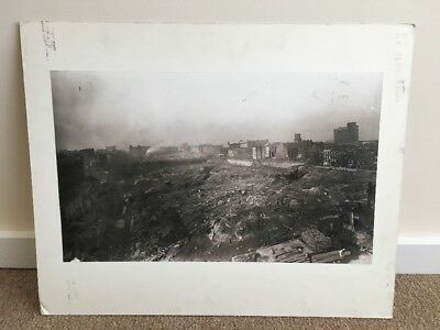 Antique Mounted Photo Showiing New York City Subway Construction 8th Ave & 35th