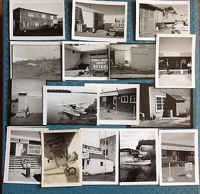 Vintage 1960s Photo Alaska Airlines. Airports, Planes, etc... Lot of 16.