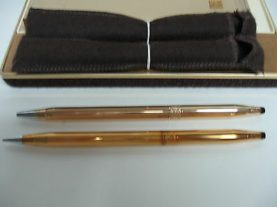 Coca-Cola 14 KT Gold Ladies Cross Pen & Pencil Set with Leather Case - NEW
