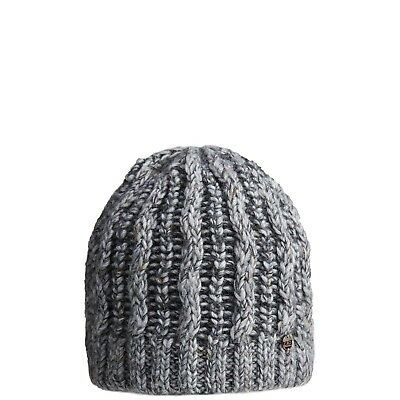 CMP Beanie Knitted Winter Hat Grey Chunky Knitted Warming Applique
