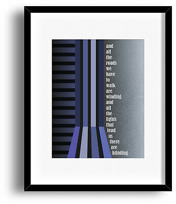 Wonderwall by OASIS Song Lyric Music Poster Art Print Keepsake Illustration