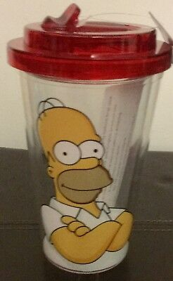 New The Simpsons HOMER Tumbler DRINK CUP