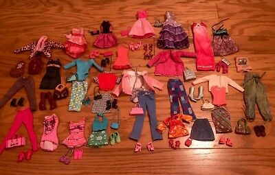 Barbie Doll  Clothes Lot With Shoes And Purses Accessories
