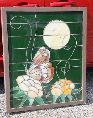 VTG Lighted Stained Glass Window from Blue Door Biker Bar on 1488 Magnolia Tx