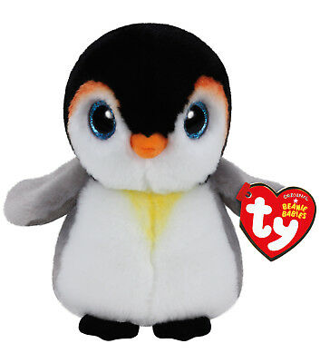 """TY Beanie Baby 6"""" PONGO the Penguin Plush Stuffed Animal Toy MWMT's Heart Tags"""