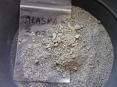 Alaska paydirt, Unsearched, 3 oz. bag ,Alaska only dirt,Alaska Au, FREE SHIPPING