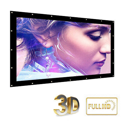 Foldable Outdoor 180'' Inch 16:9 Projector Projection Screen 3D HD Cinema Theate