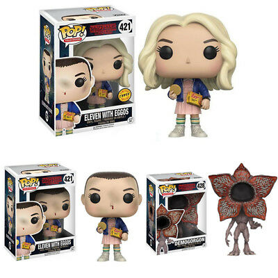POP Stranger Things Eleven with Eggos Chase In Wig Vinyl Action Figure Toy Gifts