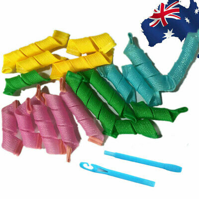 Long Ringlet Hair Spiral Rollers Curlers Instant Tool JHCOM 0018