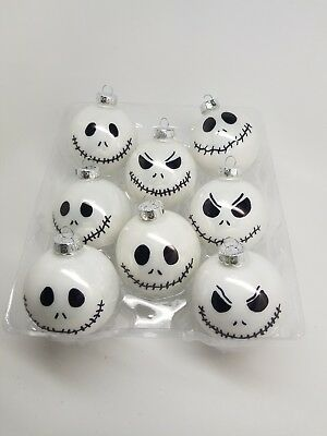 Jack Skellington Nightmare before christmas ornament Hand Painted glass readinfo