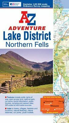 Lake District (Northern Fells) Adventure Atlas (A-Z A... by Geographers' A-Z Map