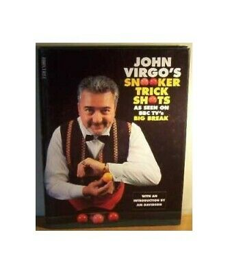 John Virgo's Book of Snooker Trick Shots by Virgo, John Hardback Book The Cheap