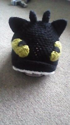 toothless riding hat cover wool handmade