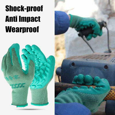 Anti Impact vibration Safety Work Latex Gloves Grips For Drilling Mine-coaling