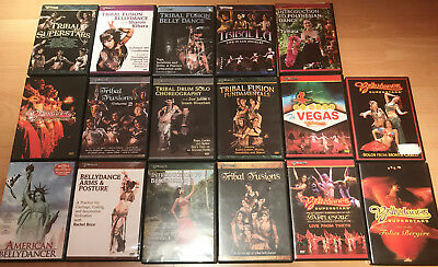 Bellydance Sperstars, Tribal Fusion Belly Dance DVD x 17 as set
