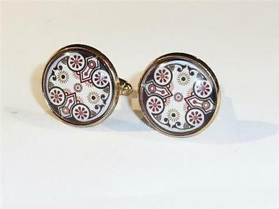 Gold Plated Cufflinks - Gothic Revival - Gift Bag - Free Uk P&p.......w0861